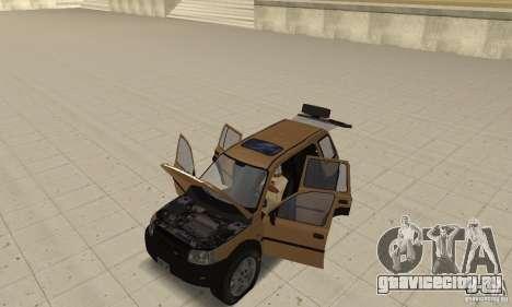 Land Rover Freelander KV6 для GTA San Andreas вид сзади