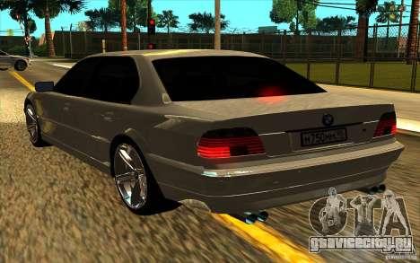 BMW 750iL E38 для GTA San Andreas вид сбоку