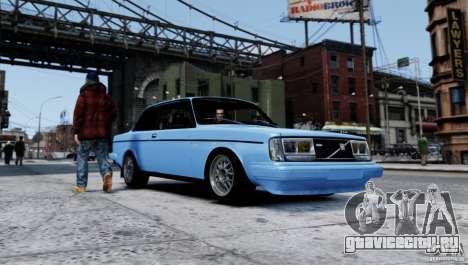 Volvo 242 v2 для GTA 4 вид слева