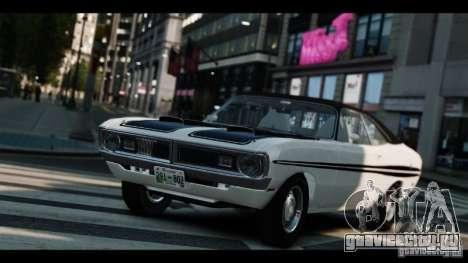 Dodge Demon 1971 для GTA 4 вид изнутри