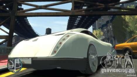 Maybach Exelero для GTA 4 вид сбоку