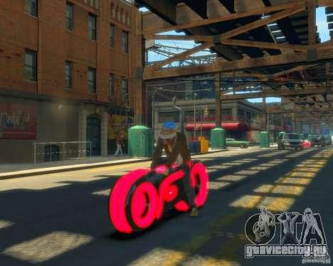Мотоцикл из Трон (красный неон) для GTA 4