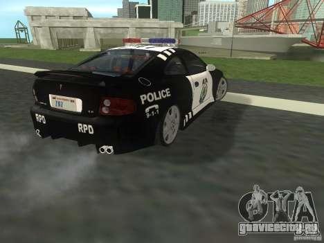 Pontiac GTO Police для GTA San Andreas вид сзади слева