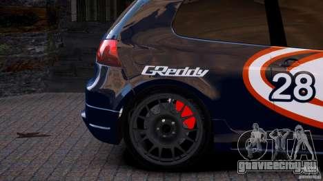 Volkswagen Golf V GTI Blacklist 15 Sonny v1.0 для GTA 4 вид сзади слева