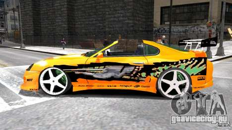 Toyota Supra Fast And Furious для GTA 4 вид слева