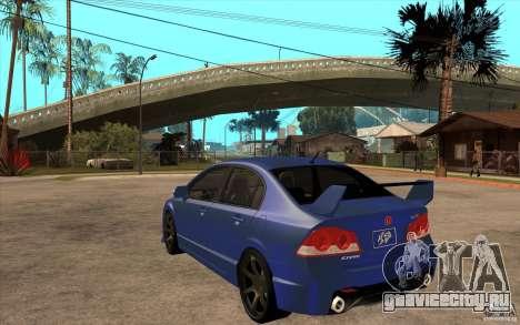 Honda Civic Mugen v1 для GTA San Andreas вид сзади слева