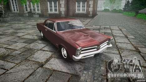 Pontiac GTO 1965 для GTA 4 вид снизу