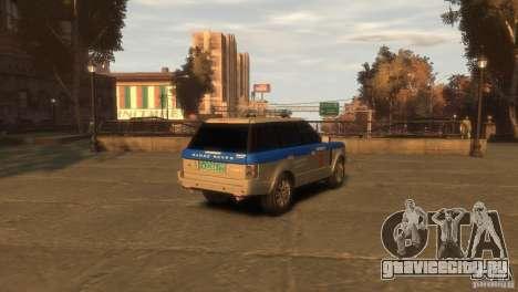 Land Rover Range Rover Police для GTA 4 вид сзади слева