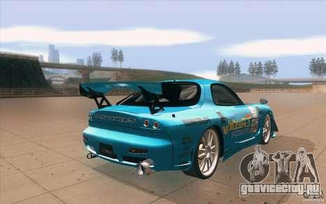 Mazda RX-7 911 Trust для GTA San Andreas вид сбоку
