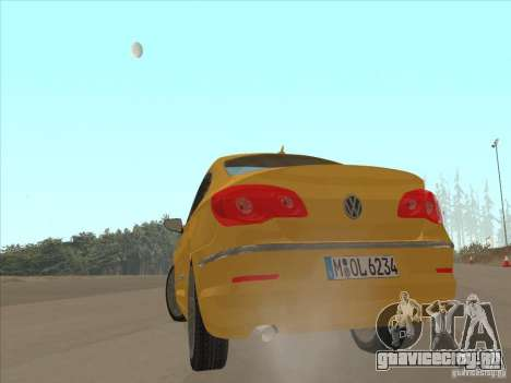 Volkswagen Passat CC для GTA San Andreas вид сзади слева