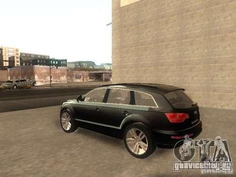 Audi Q7 TDI Stock для GTA San Andreas вид сзади слева