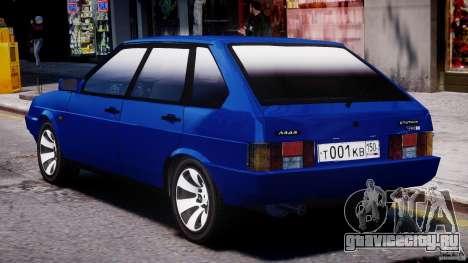 ВАЗ-21093i для GTA 4 вид снизу