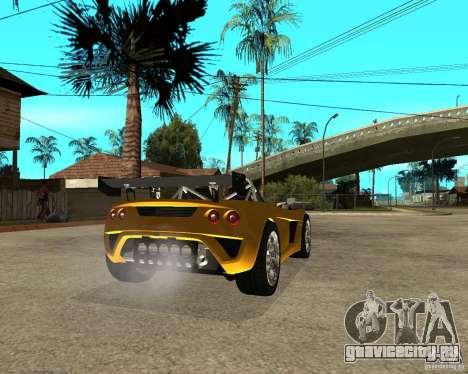 Lotus 2-Eleven для GTA San Andreas вид сзади слева