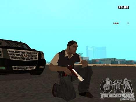 White Red Gun для GTA San Andreas второй скриншот