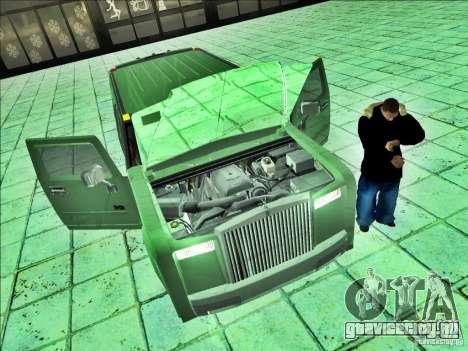 Hummer H2 Phantom для GTA San Andreas вид сзади слева