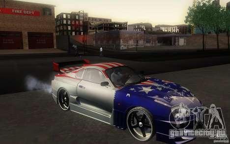 Toyota Supra Chargespeed для GTA San Andreas вид сзади слева