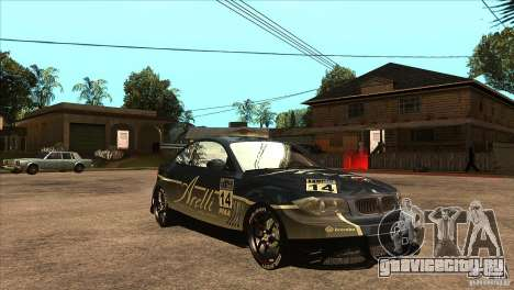BMW 135i Coupe GP Edition Skin 3 для GTA San Andreas вид сзади