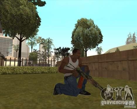AK-74 с текстурой из Метро 2033 для GTA San Andreas третий скриншот