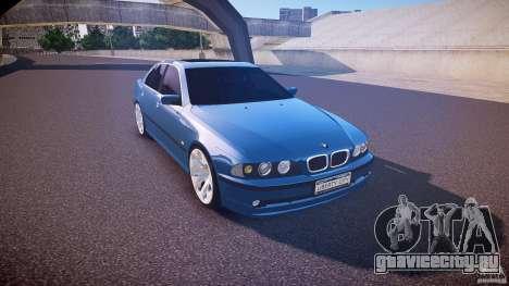 BMW 530I E39 e63 white wheels для GTA 4 вид изнутри