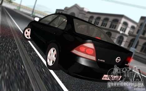 Nissan Almera Classic для GTA San Andreas вид изнутри