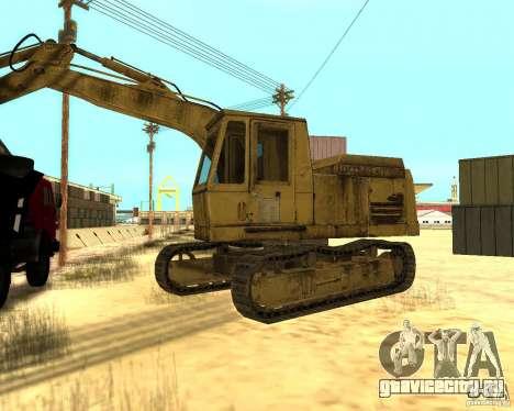 Экскаватор для GTA San Andreas вид слева