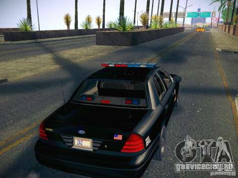 Ford Crown Victoria Police Intercopter для GTA San Andreas вид изнутри