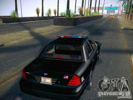 Ford Crown Victoria Police Intercopter для GTA San Andreas вид изнутри