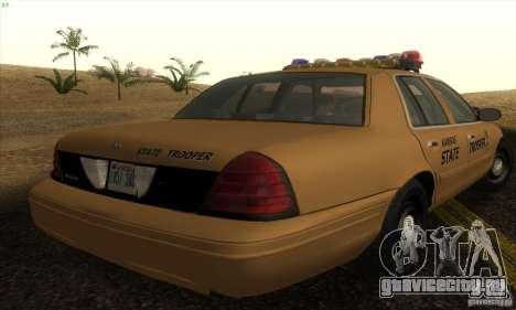 Ford Crown Victoria Kansas Police для GTA San Andreas вид слева