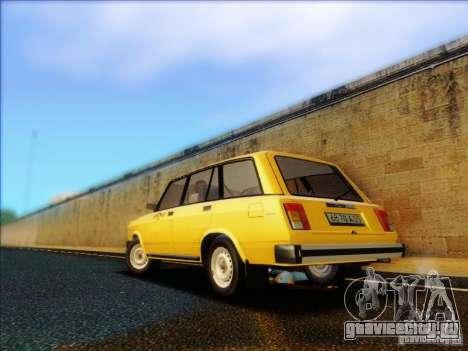 ВАЗ 2104 Такси для GTA San Andreas вид сзади слева