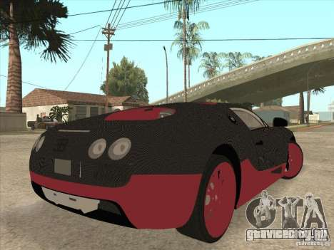 Bugatti Veyron Super Sport для GTA San Andreas вид снизу