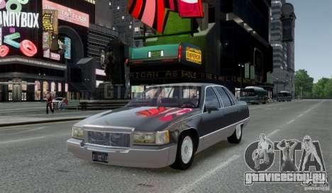 Cadillac Fleetwood 1993 для GTA 4 вид сзади слева