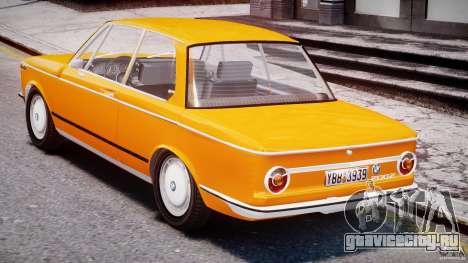 BMW 2002 1972 для GTA 4 вид справа