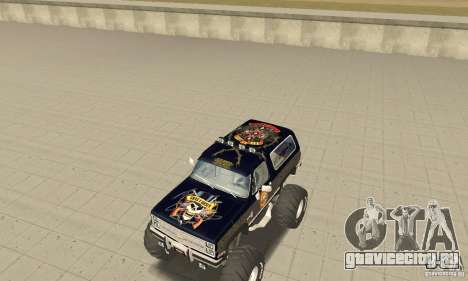 Chevrolet Blazer K5 Monster Skin 2 для GTA San Andreas вид слева
