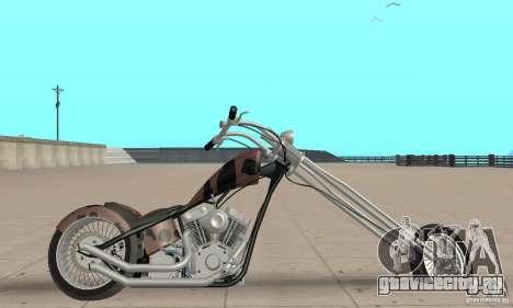 Desperado Chopper для GTA San Andreas вид сзади слева