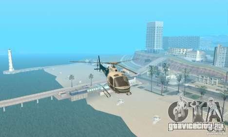 AS350 Ecureuil для GTA San Andreas вид изнутри