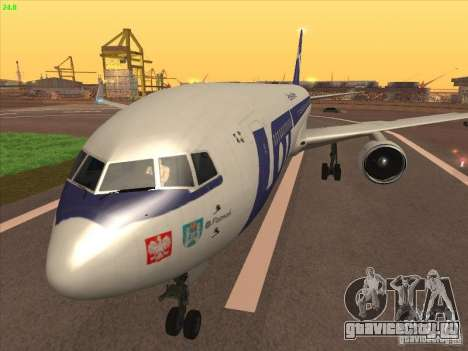 Boeing 767-300 LOT Polish Airlines для GTA San Andreas вид сзади слева