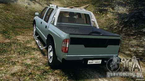 Chevrolet S-10 Colinas Cabine Dupla для GTA 4 вид сзади слева