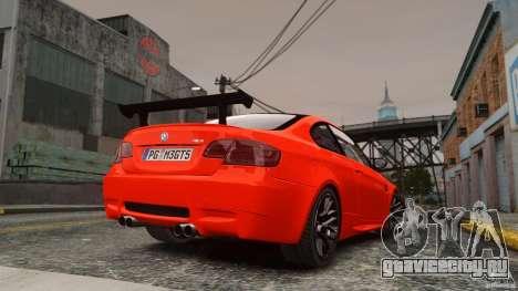 BMW M3 GTS Final для GTA 4 вид слева