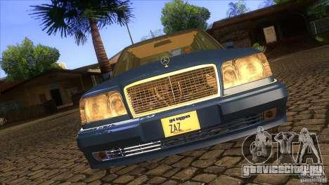 Mersedes-Benz E500 для GTA San Andreas вид снизу