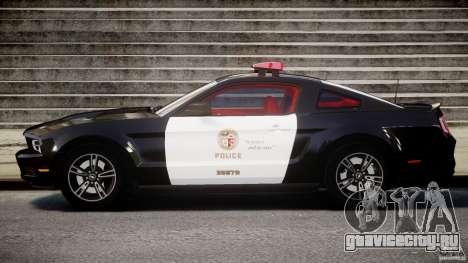 Ford Mustang V6 2010 Police v1.0 для GTA 4 вид слева