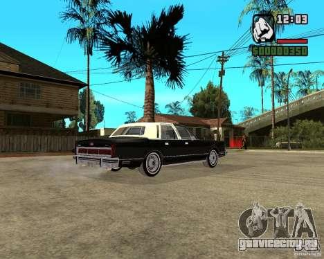 Lincoln Town Car 1986 для GTA San Andreas вид справа