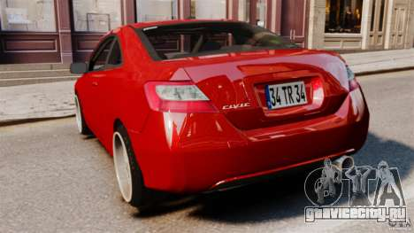 Honda Civic Si для GTA 4 вид сзади слева