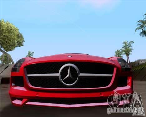 Mercedes-Benz SLS AMG V12 TT Black Revel для GTA San Andreas вид сзади слева