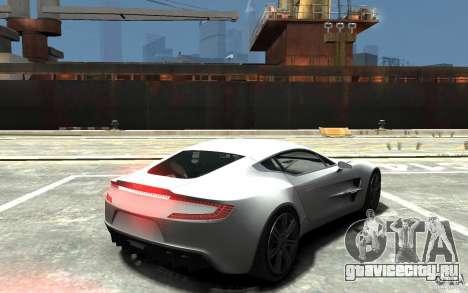 Aston Martin One 77 для GTA 4 вид справа