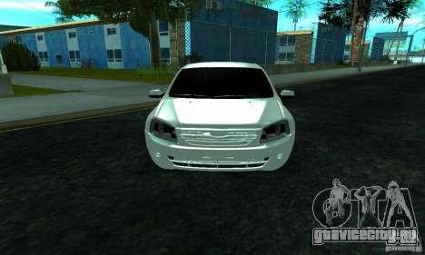 Lada 2190 Granta для GTA San Andreas вид изнутри