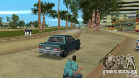 Manana HD для GTA Vice City вид сзади слева