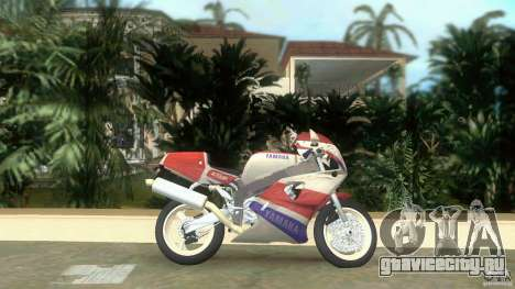 Yamaha FZR 750 white lighted для GTA Vice City вид слева