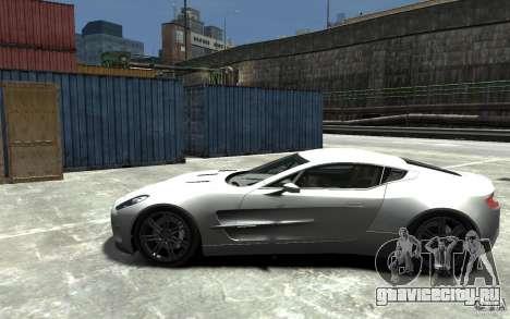 Aston Martin One 77 для GTA 4 вид слева