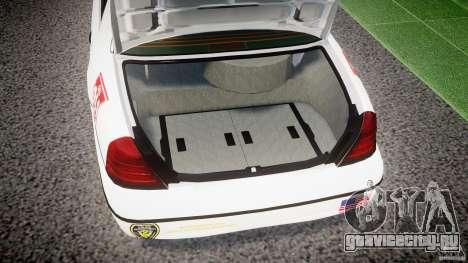 Ford Crown Victoria US Marshal [ELS] для GTA 4 вид сбоку