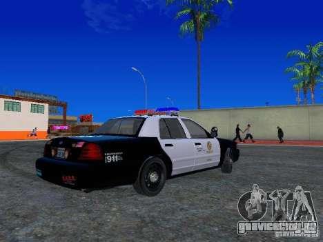 Ford Crown Victoria San Andreas State Patrol для GTA San Andreas вид справа